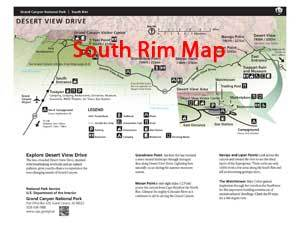 South Rim Overview Map