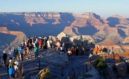 Which Rim of Grand Canyon is best - Mather Point Overlook - South Rim