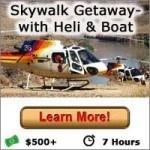Skywalk Getaway with Heli & Boat - Las Vegas Grand Canyon Tours