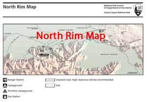 north rim grand canyon map North Rim Maps Grandcanyon Com north rim grand canyon map