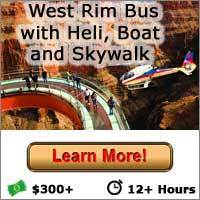 West Rim Bus with Helicopter Boat Cruise and Skywalk - Las Vegas Grand Canyon Tours