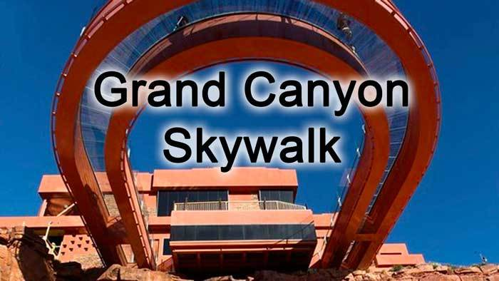 Looking up Grand Canyon Skywalk