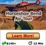 Horseshoe Bend Air Tour Button