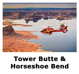 Tower Butte and Horseshoe Bend by Helicopter