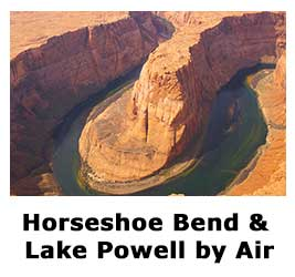 Horseshoe Bend and Lake Powell by Air