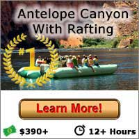 Antelope Canyon With Rafting Button